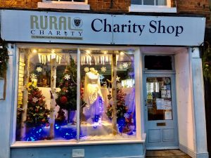 Rural Charity Shop, runners up in the Winter Festival Window Competition in Ellesmere 2019
